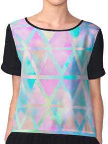 Pink pastel aztec pattern Chiffon Top