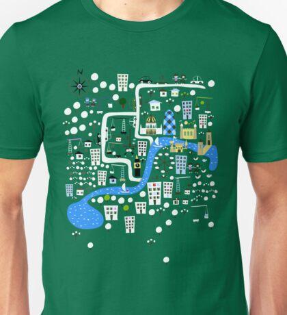 Cartoon Map of London Unisex T-Shirt