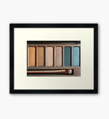 Colorful Eye Shadow Palette Makeup Products Framed Print