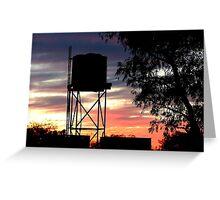 Sunset at Batton Hill North Simspon Desert Greeting Card