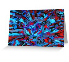 abstract, geometric, expressionist, color Greeting Card