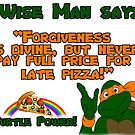 Wise Man Michaelangelo (Orange Lettering) by kittenofdeath