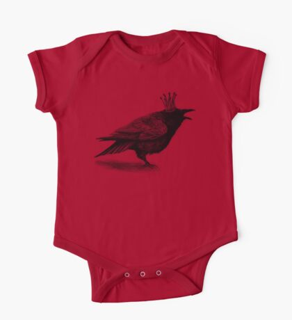 Crow in crown One Piece - Short Sleeve