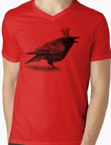 Crow in crown Mens V-Neck T-Shirt