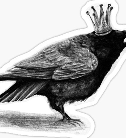 Crow in crown Sticker