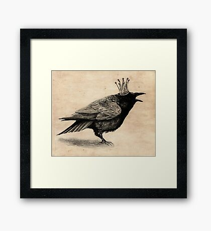 Crow in crown Framed Print