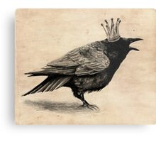 Crow in crown Metal Print
