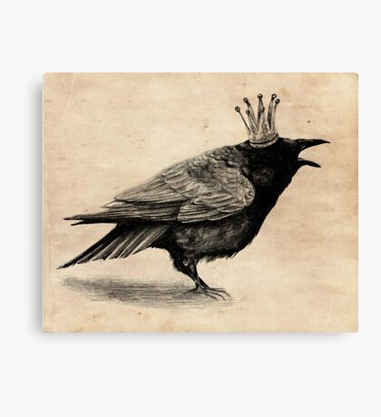 Crow in crown Canvas Print