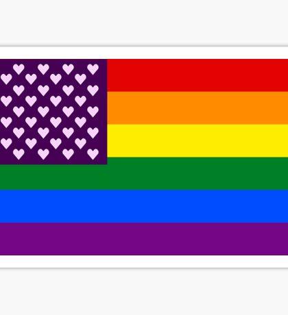 Pride Flag - Hearts Sticker