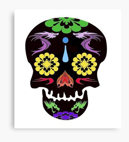 Flowerfull Skull Canvas Print