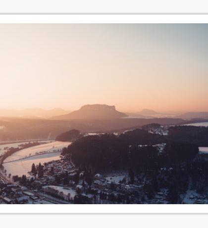 Sunrise in Saxon Switzerland Sticker