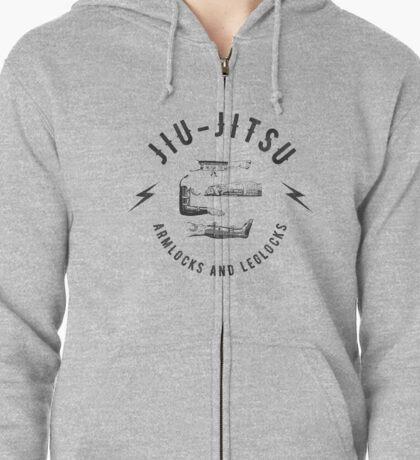 Jiu-jitsu. Armlocks and leglocks. Zipped Hoodie