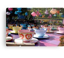 Tea cups at Disneyland Metal Print