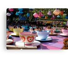 Tea cups at Disneyland Canvas Print