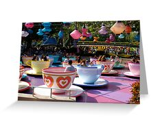 Tea cups at Disneyland Greeting Card