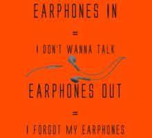 Earphones Music Funny Design Kids Clothes