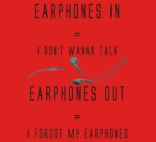 Earphones Music Funny Design Kids Clothes