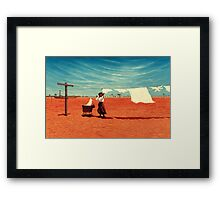 Outback Washday Framed Print