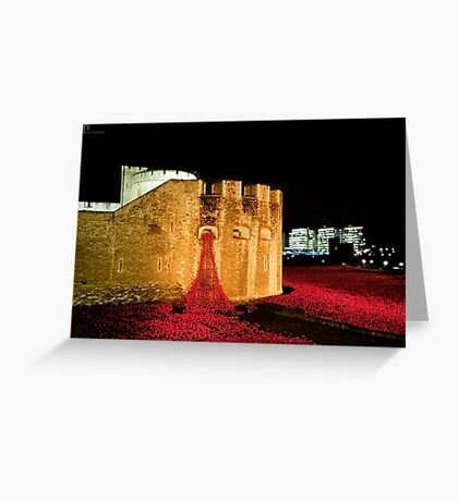 888,246 Red Poppies Greeting Card