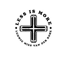 Less Is More Column Black Mies Van Der Rohe Architecture Tshirt Photographic Print