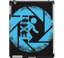 portal blue iPad Case/Skin