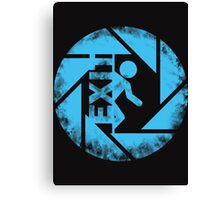 portal blue Canvas Print