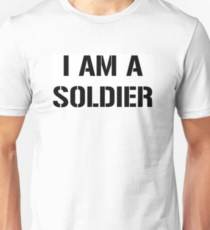I am a Soldier, United States Army, White Box Unisex T-Shirt
