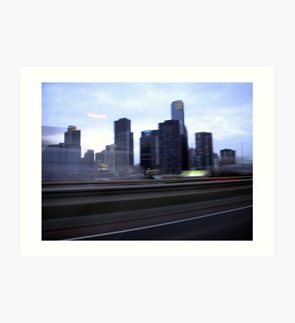 Melbourne view Art Print