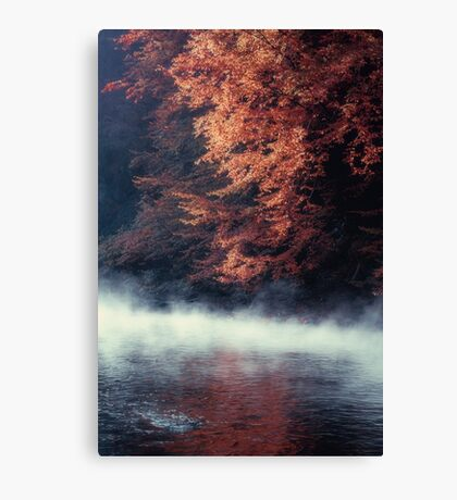 Nature*s Mirror - Fall at the River Canvas Print
