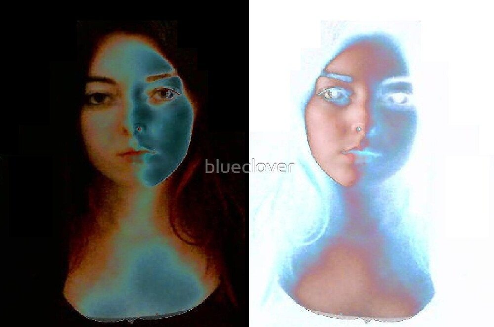 Eerie Self Portrait and Reflection by blueclover