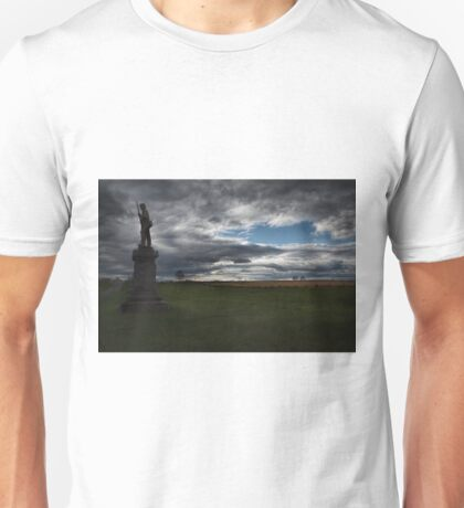 Soldier Guarding the Battlefield Unisex T-Shirt