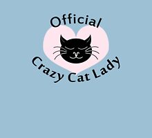 Official Crazy Cat Lady. Womens Fitted T-Shirt
