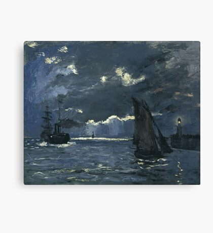Claude Monet - Seascape, Night Effect, 1866 Canvas Print