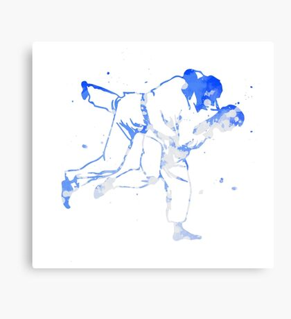 Painted Judo Throw (Judo / BJJ / Sambo) Canvas Print