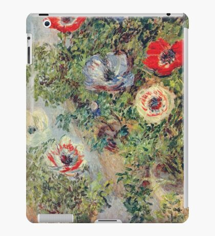 Claude Monet - Stilll Life With Anemones iPad Case/Skin