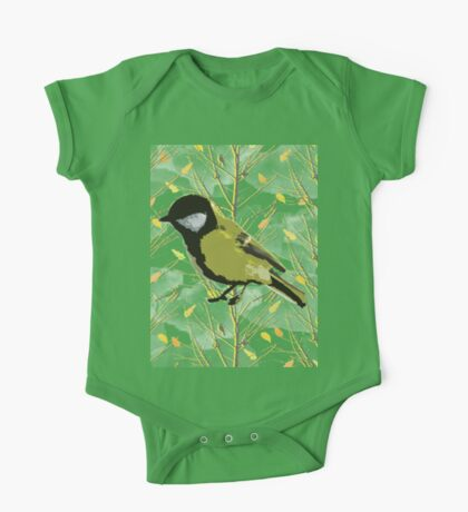 Bird and trees One Piece - Short Sleeve