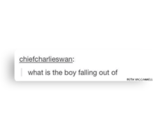 """""""what is the boy falling out of"""" Canvas Print"""