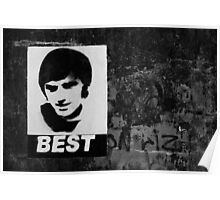 George Best Mono Poster