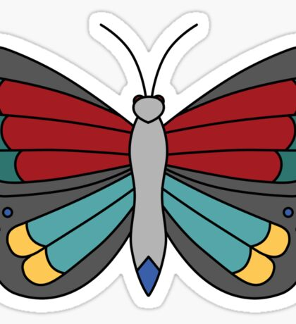 American Traditional Butterfly Sticker