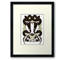 Badgering the snakes in the mushrooms Framed Print