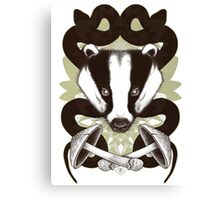 Badgering the snakes in the mushrooms Canvas Print