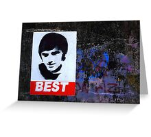 George Best Wall Art Greeting Card