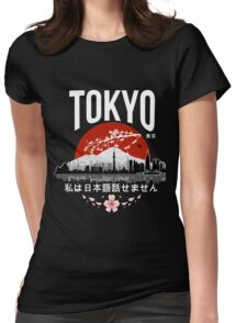 Tokyo - 'I don't speak Japanese': White Version Womens Fitted T-Shirt