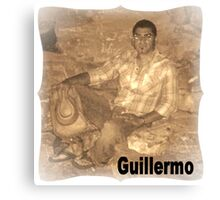 GUILLERMO SITTING FOR PORTRAIT Canvas Print