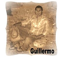 GUILLERMO SITTING FOR PORTRAIT Photographic Print