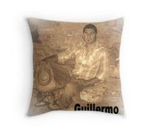 GUILLERMO SITTING FOR PORTRAIT Throw Pillow