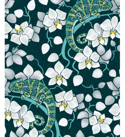 chameleons and orchids  Sticker