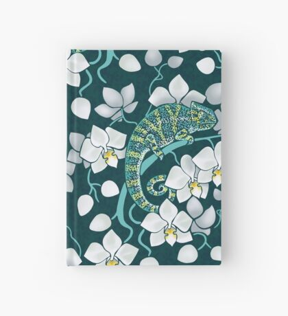 chameleons and orchids  Hardcover Journal