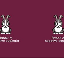 Rabbit of Negative Euphoria (mug) by redscharlach
