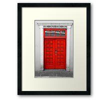 Red Door Framed Print